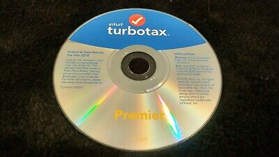 Turbotax Premier Tax Software Disc 2018 Federal + E-file + State  PC/MAC Disc