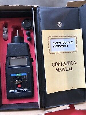 EXTECH DIGITAL PHOTO/ CONTACT TACHOMETER In Original Case w/instructions