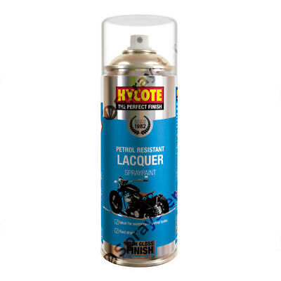 Hycote Clear Petrol Resistant Lacquer Spray Paint Motorbike Car 400ml XUK435