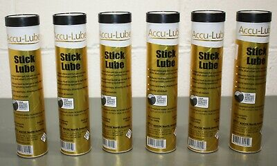 (6) Accu-Lube Stick Lubricant 79045, 13oz / 368g, Vegetable Oil Base, Cutting