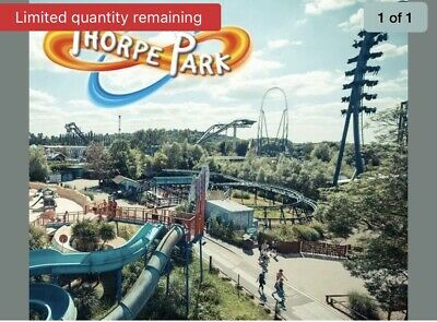 2 Thorp Park E TICKETS WORTH OVER £100