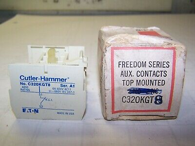 New Cutler Hammer Freedom Series Top Mounted Aux Contact C320Kgt8 6 Amp 600 Vac