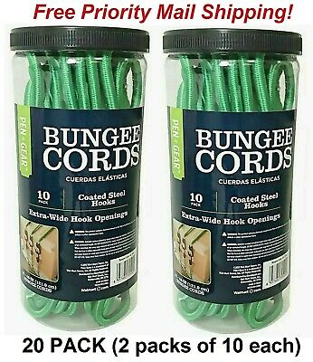 Pen Coated Steel Extra Hooks 48 Inches LOT OF Gear Bungee Cords 10 Pack 2