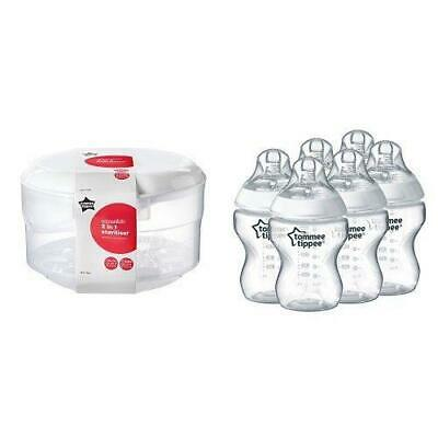 Tommee Tippee Essentials Microwave Steriliser + Closer to Nature Feeding...