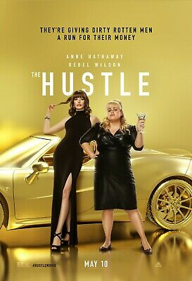 The Hustle movie poster  - 11 x 17 inches - Anne Hathaway, Rebel Wilson