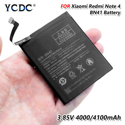 Battery BN41 For Xiaomi Redmi Note 4 Mobile Phone Replacement 3.85V 4100mAh BAC