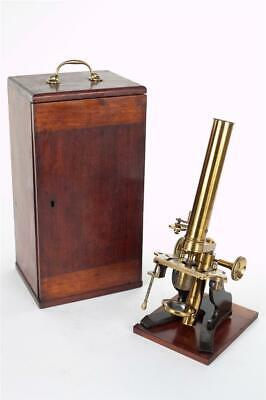 Vintage ~ c1900 ~ Brass Microscope with Case