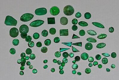 Mw: EMERALD Mixed Faceted Parcel - 1.5mm to 6mm - 70pcs, 5.4 carats total
