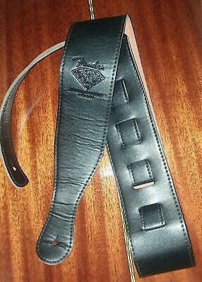 Black PU Leather 52.5 Adjustable Guitar Strap