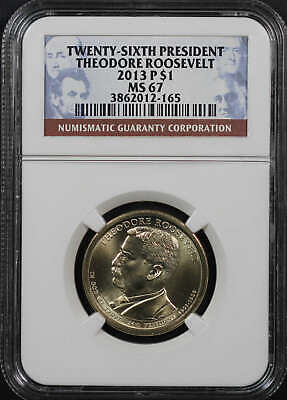 2013-P Theodore Roosevelt Presidential Dollar NGC MS-67 -179475