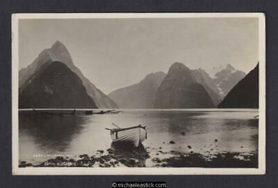 New Zealand Milford Sound Muir & Moodie No.4487 Postcard