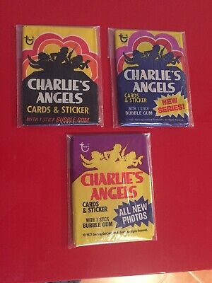 Vintage Charlie's Angels Wax Pack LOT Series 1 2 & 3 Trading Cards