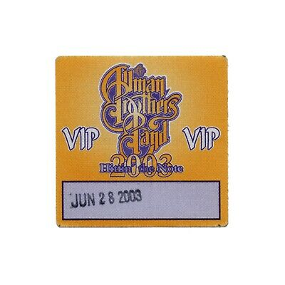 Allman Brothers VIP 2003 concert tour band Backstage Pass Gregg Allman