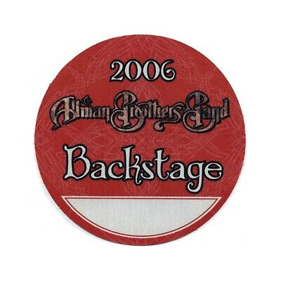 Allman Brothers VIP 2006 concert tour band Backstage Pass Gregg Allman