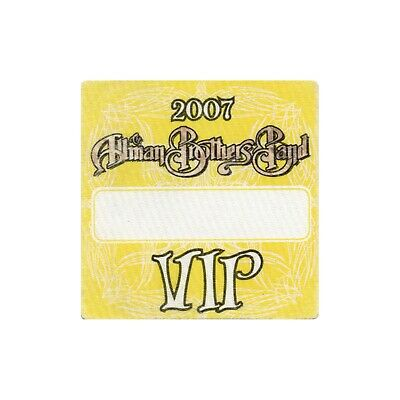 Allman Brothers VIP 2007 concert tour band Backstage Pass Gregg Allman