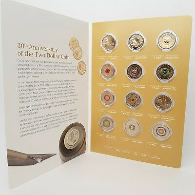 30th Anniversary of Two Dollar 12 Coin Collection 1988-2018 - Low mìntage UNIQUE