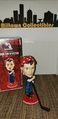 ROSIE THE RIVETER WWII Icon SGA NWHL Women's Hockey Bobblehead 3/3/2019 Riveters