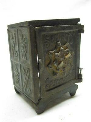 Cast Iron Security Safe Deposit Bank 100 Keyser & Rex 1881 Antique Vtg Old Toy