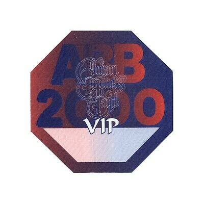 Allman Brothers VIP 2000 concert tour band Backstage Pass Gregg Allman