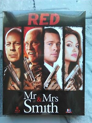 Coffret 2 Blu-ray ( Red + mr & mrs Smith ) neuf sous blister