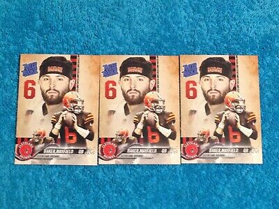 🔥🔥Baker Mayfield Rated Rookie Custom Card Cleveland Browns Mint 3X🔥🔥
