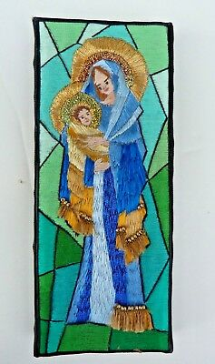 Madonna And Child, Vintage Religious Embroidery