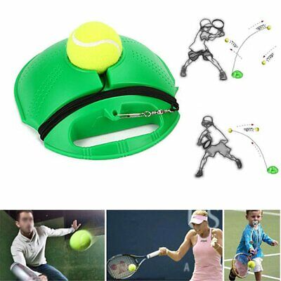 Single Tennis Trainer Training Practice Rebound Ball Back Base Tool+1 Ball CR
