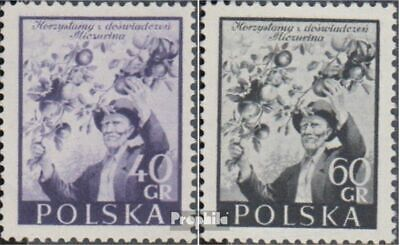 Poland 870-871 (complete issue) unmounted mint / never hinged 1954 Friendship wi