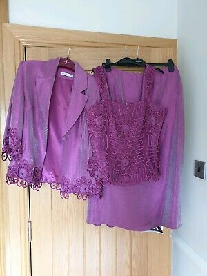 Gina Bacconi Mother Of The Bride Outfit Size 12 Ex Condition FINAL REDUCTION