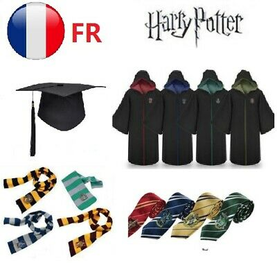 Harry Potter adulte Robe Cape Costume Chapeau Cravate écharpe cosplay L'école FR