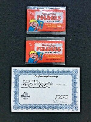 1970 Valentine Foldees The Topps Vaults Authentic Unopened Wax Wrapper Packets