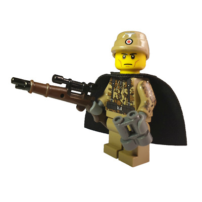 WW2 German Afrika Korps Officer Made With REAL LEGO® Minifigure Parts