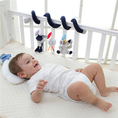 Newborn Baby Infant Music Educational Toys Stroller Car Seat Cot Bed Hanging JA