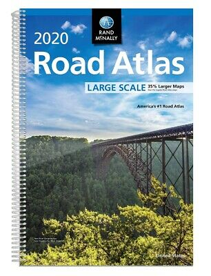 Rand McNally 2020 Large Scale Road Atlas Spiral-bound 2019