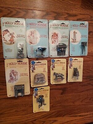 Lot of 9 Holly Hobbie Old Fashioned Collectors Miniatures Die Cast Metal Vintage