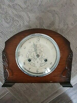 Vintage Art Deco Bentima 8-Day Striking Mantel Clock   Perivale Movement Spares