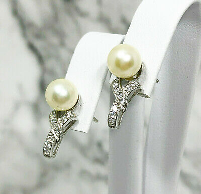 Luxurious Akoya Sea Water Pale Gold 7.1mm Round Cultured Pearl Stud Earrings