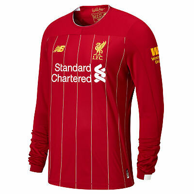 New Balance Official Mens Liverpool FC Home Football Shirt 2019-20 Long Sleeves