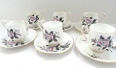 ROYAL ALBERT Queens Messenger COFFEE Tea CUPS & SAUCERS - Set of 6