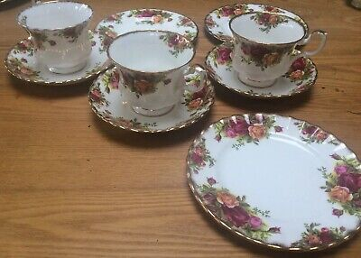 Three  ROYAL ALBERT OLD COUNTRY ROSES TRIO'S