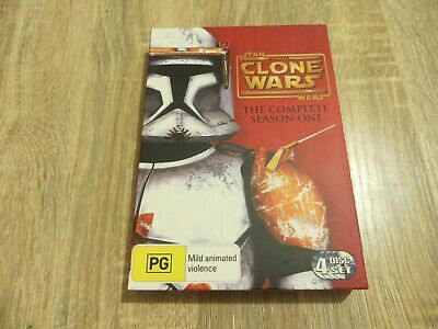 Star Wars - The Clone Wars - Complete Season One - 4 Disc Region 4 DVD Set
