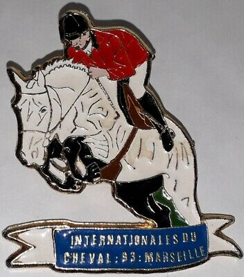 Pins Pin Cheval Jumping Equitation Obstacle Barres Internnational Marseille 1993
