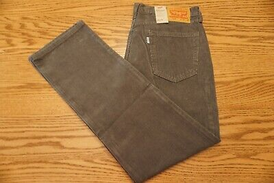 14a4ea1a NWT MEN'S LEVI CORDUROY PANTS 514 Size 34 x 32 Straight Leg Below Waist Gray