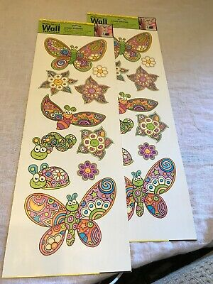 Main Street Creations Jumbo Stickers Butterflies Girl S Wall Decor Decal Nwt 2 00 Picclick