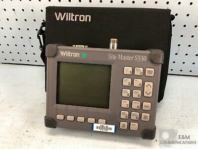 S330-D1 Wiltron Anritsu Site Master Cable Antenna Analyzer - No Ac Adapter