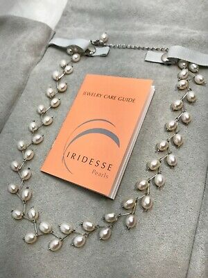 """Tiffany & Co. IRIDESSE Cultured Freshwater Pearl Necklace Cream Rose 16.5""""-19"""""""