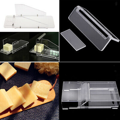 4 x Acrylic Soap Beveler Soap Dish Cutter Box Steel Wire Loaf Cutter Slicer