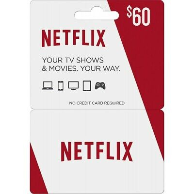 Netflix Giftcard $ 60 USD (55% OFF)