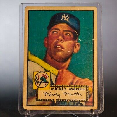 1952 Topps *Mickey Mantle* RC  #311B - New York Yankees rookie card rp