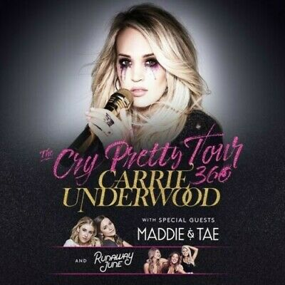 2 Tickets Carrie Underwood, Maddie and Tae & Runaway June 10/19/19 Atlanta, GA